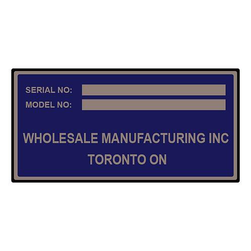 Custom Anodized Aluminum Nameplates