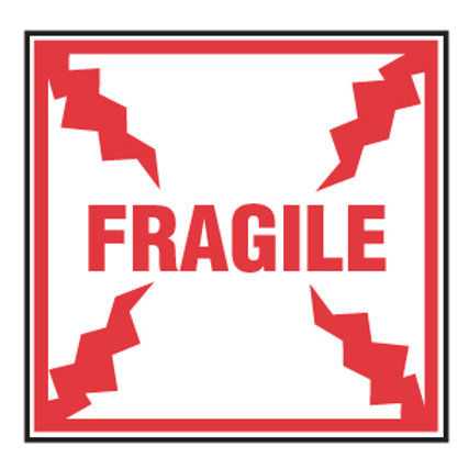 """Shipping Labels - Fragile 4"""" x 4"""" 500/Roll"""