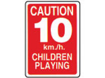 Speed Limit 10 km / h Signs