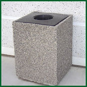 Concrete Trash Containers | Wholesale Safety Labels
