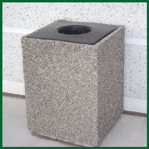 Concrete Garbage Container with Lid