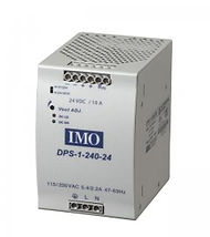 IMO's DPS range of AC/DC Din Rail mounted power supplies Power Supply 93-264AC input, 24VDC Output, 240W 10A
