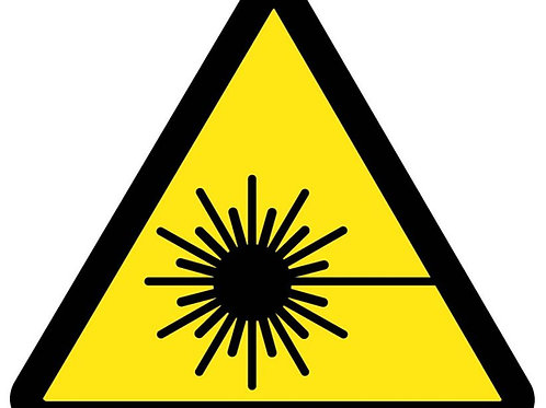 ISO Safety Label Laser Hazard Pictogram