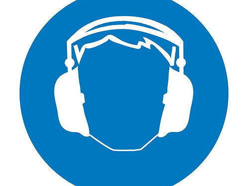 ISO Safety Label Wear Hearing Protection Pictogram