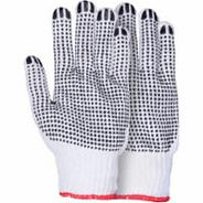 Natural Poly/Cotton Dotted Gloves