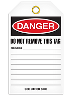 Custom Danger Tags | Wholesale Safety Labels