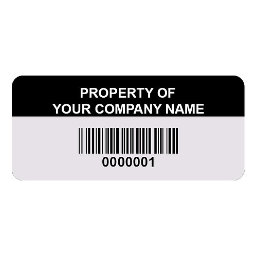 Custom Anodized Aluminum Asset Tags - Pack of 100