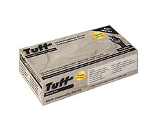 TUFF Black Disposable Nitrile Gloves  POWDER-FREE INDUSTRIAL GRADE 4-Mil