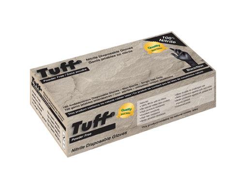 TUFF Black Disposable NitrileGloves PF 4-Mil