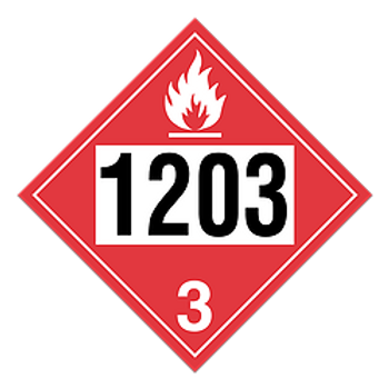 Gasoline 1203 Pre-Numbered Placards | Wholesale Safety Labels