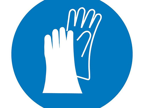 ISO Safety Label Wear Hand Protection Pictogram