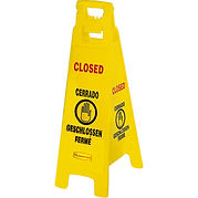 Floor Safety Signs - 4 Sided Multi-Lingual