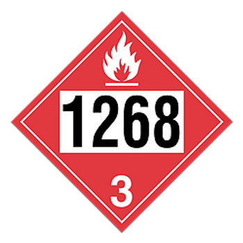 Petroleum Distillates, Products 1268 Placards | Wholesale Safety Labels