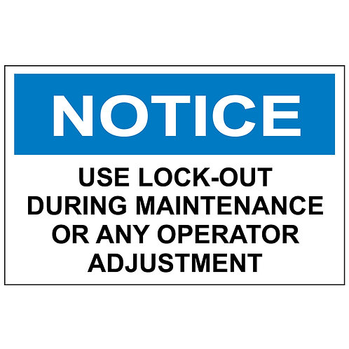 Notice Label Use Lock-Out