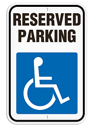Handicap - No Parking Signs | Wholesale Safety Labels