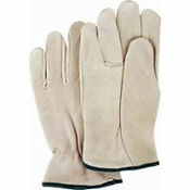 Grain Cowhide Drivers Gloves | Wholesale Safety Labels