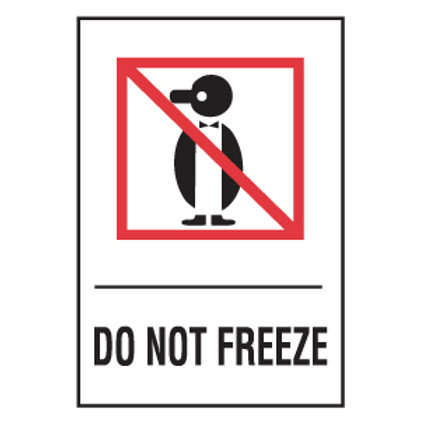 Do Not Freeze Shipping Labels