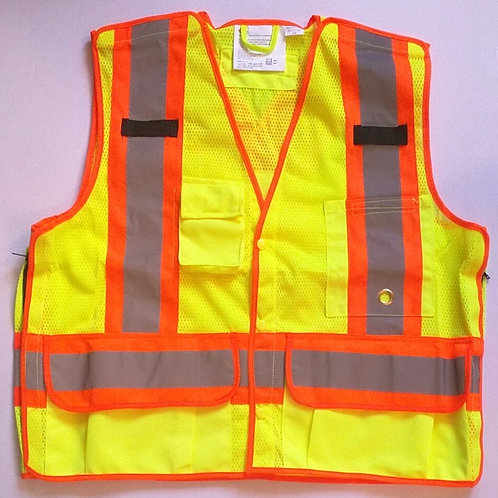 5 Point Tear Away Deluxe Traffic Safety Vests