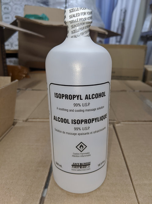 Isopropyl Alcohol 500 ml bottles, Sold 12 / Case
