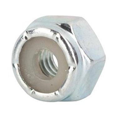 Fasteners - #8-32 Grade 2 Zinc Finish NM Steel Nylon Insert Lock Nut 100/Box