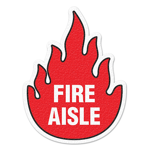 Walk on Floor Signs:  Fire Aisle | Wholesale Safety Labels