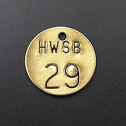 Stock Brass Stampled Valve Tags