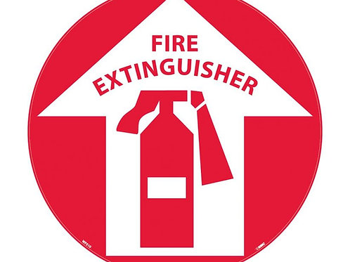 "Walk on Floor Signs: Fire Extinguisher  17"" x 17"""