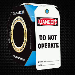 Safety Tags on a Roll | Wholesale Safety Labels
