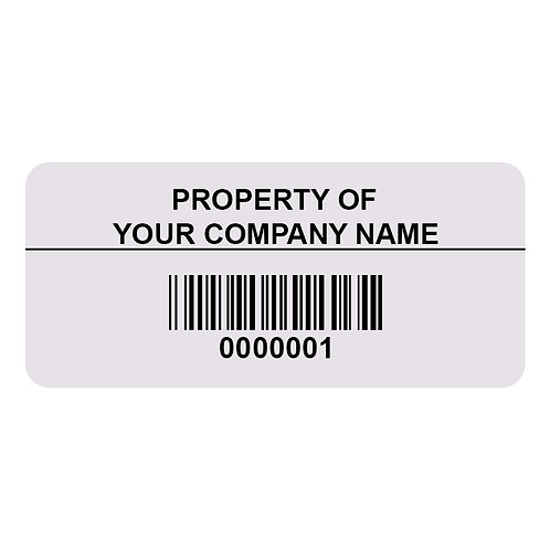 Reverse Print Anodized Aluminum Asset Tags | Ontario | Canada | Wholesale Safety Labels
