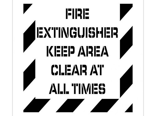 Floor Stencils - Fire Extinguisher Keep Area Clear