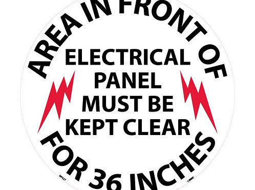 "Walk on Floor Signs: Electrical Panel Keep Clear  17"" x 17"""
