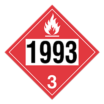 Flammable Liquid 1993 Placards | Wholesale Safety Labels