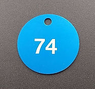 Laser Engraved Anodized Aluminum Vavle Tags