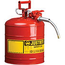 Justrite Type II AccuFlow™ Safety Cans