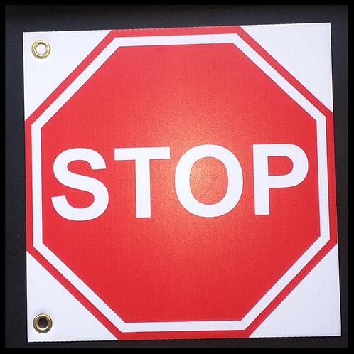 Double Sided Stop Signs with Grommets | Wholesale Safety Labels