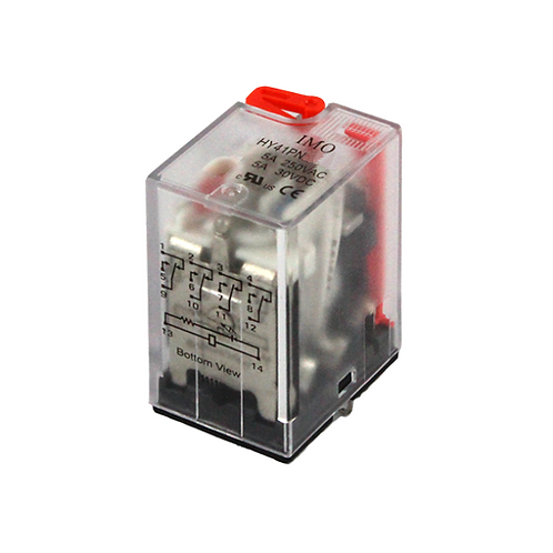 IMO Relay 4PCO, 5A, 240VAC, up to 1.8VA Plug-in,LE
