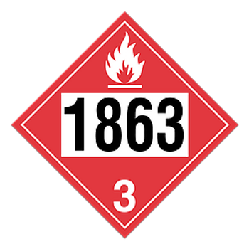 Fuel, Aviation Turbine Engine 1863 Placards | Wholesale Safety Labels