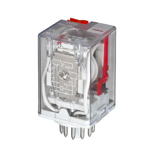 IMO Relay 3PCO, 10A, 230VAC, 1.5W Plug-in,LED&Manu