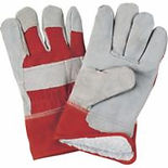 Split Cowhide Fitters Acrylic Boa-Lined Gloves