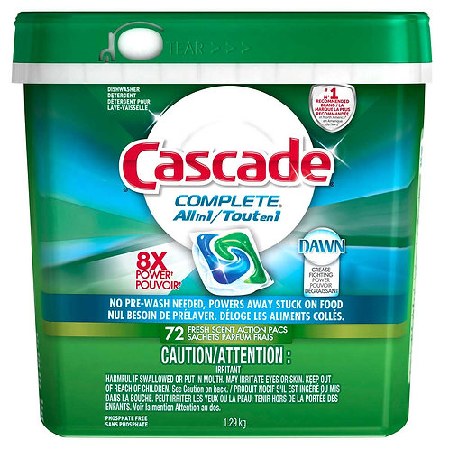 Cascade All-In-1Pacs 72 Count  3/Case