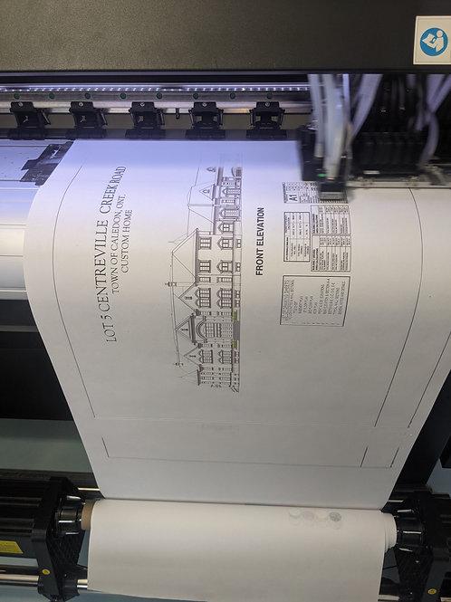 Raised Letter Blueprints on Paper or Waterproof Tyvek