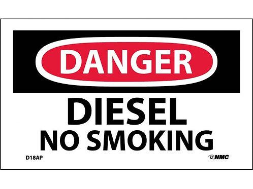 Danger Diesel No Smoking Labels