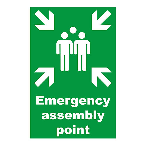 Emergency Assembly Point Sign Aluminum | Wholesale Safety Labels