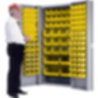 Deep Door Combination Cabinets - 118 Bin Cabinets | Wholesale Safety Labels