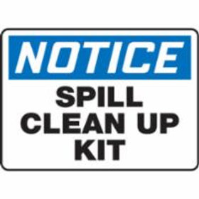 Notice Spill Kit Signs
