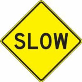 "Regulatory Warning Sign Slow - 24"" x 24"""