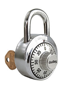 dudley® Commercial Combination Lock with Master Key  | Wholesale Safety Labels