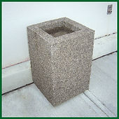 Concrete Garbage and Smoking Receptacles | Wholesale Safety Labels