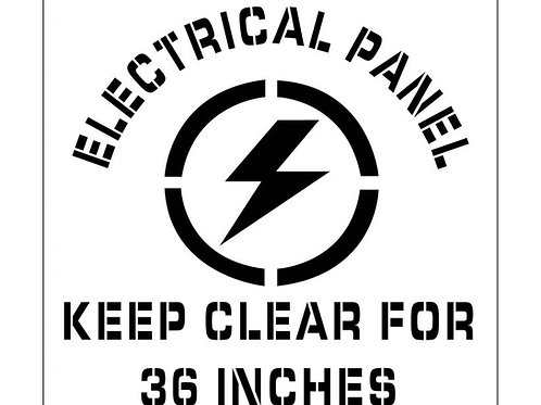 Floor Stencils - Electrical Panel Keep Clear (Graphic)