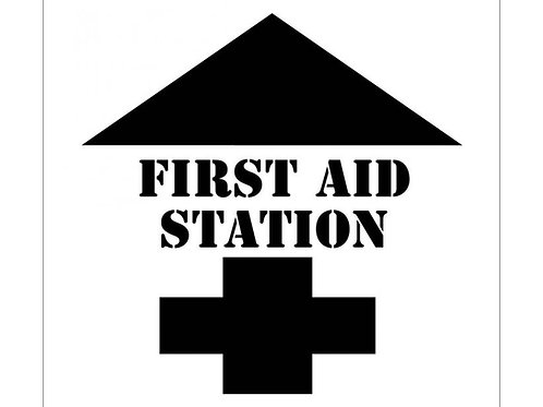 Floor Stencils - First Aid Station (with Graphic)